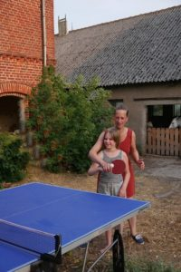 An der Tischtennisplatte