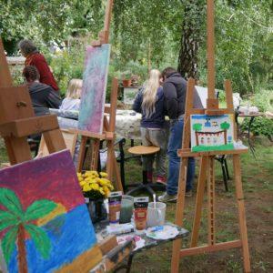 Malen im Garten